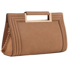 MELIE BIANCO CELY NUDE CLUTCH VEGAN LEATHER ($45) ❤ liked on Polyvore featuring bags, handbags, clutches, faux leather handbags, nude handbags, beige clutches, vegan handbags and melie bianco handbags