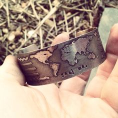 Metal etched biblical world view bangle bracelet. SoBeautifullyBroken, $39.00 #missions #missionary #GreatCommission