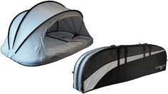 The Wave Cave is primarily designed as a padded case, capable of storing up to four surfboards of various sizes. But in a side pocket you'll find a pop-up tent that clips and zippers to the case, which doubles as a padded floor when empty for comfortable sleeping.  Starts off at $260