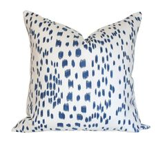 Les Touches Blue Pillow Cover Single-Sided by AriannaBelle