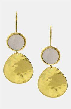 Ippolita 'Crinkle - Snowman' Stone & 18k Gold Earrings | Nordstrom