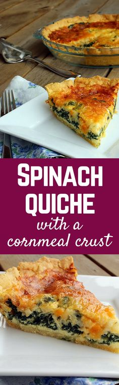 This spinach quiche