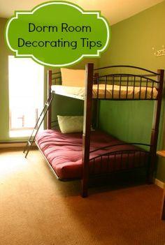 Dorm Room Decorating Tips via BargainBriana.com :: Save Money College Back to School
