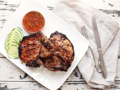 Thit heo nuong xa—Vietnamese lemongrass grilled pork chops. Tried them today; so good!