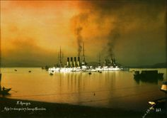 Imperial Russian Protected-Cruiser. Colorized