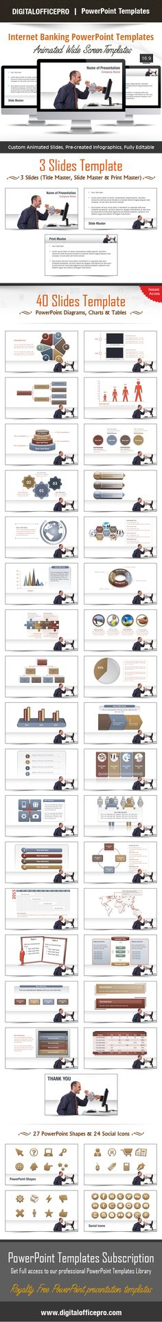Impress and Engage your audience with Internet Banking PowerPoint Template and Internet Banking PowerPoint Backgrounds from DigitalOfficePro. Each template comes with a set of PowerPoint Diagrams, Charts & Shapes and are available for instant download.