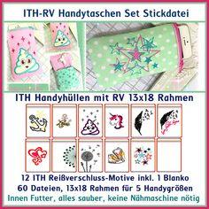 Stickmuster - ITH RV-Handy-Taschen Set Stickdatei - ein Designerstück von Rock-Queen bei DaWanda