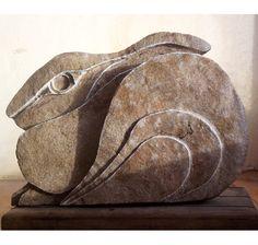 Hare Sculpture Stone Carving. Hare sculpture Stone von FluffyFenris