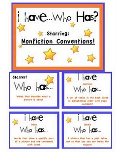 Nonfiction conventions card game