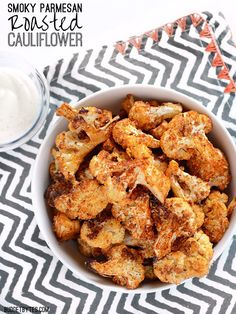 Smoked paprika takes this Smoky Parmesan Roasted Cauliflower to the next level. Great for dipping or served alone as a side to your main entrée. @budgetbytes