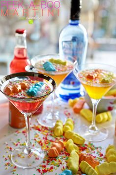 Peek-a-Boo Martini | A playful combo of cotton candy vodka & sparkling IZZE juices!