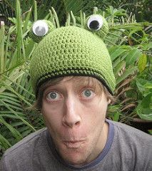 Ravelry: Frog Beanie for a dorky kid pattern by Crochetroo