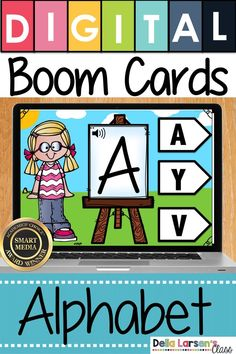 Use Boom cards to teach your kindergarten students to match the alphabet. Increase letter knowledge and start your beginning readers to notice difference in letters. This print concept skill is critical readiness skill. This Boom deck uses video to provid Kindergarten Readiness, Kindergarten Classroom, Classroom Ideas, Literacy Stations, Literacy Skills, Interactive Learning, Fun Learning, Teaching The Alphabet, Digital Literacy