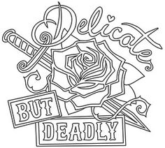 Femme Fatale - Delicate but Deadly design (UTH15961) from UrbanThreads.com