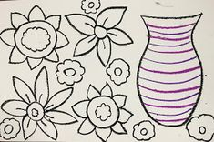 Elements of the Art Room: 3rd grade Spring Flowers