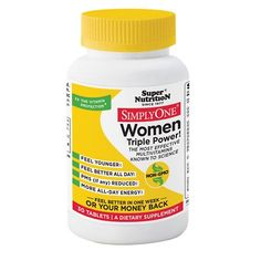 Super Nutrition Simply One Multivitamin/Mineral Dietary Supplement Tablets