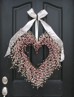 heart door wreath