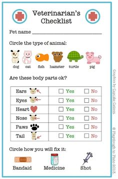 Veterinarian Printable Checklist and Littlest Pet Shop Party Ideas on Frugal Coupon Living.