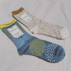 furenchbullのソックス、スピカとスポット。柄といい色合いといい好きな感じです #follow#instagood#socks#frenchbull#ソックス#フレンチブル