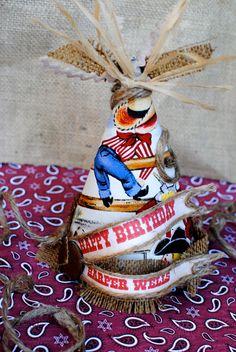 Vintage Cowboy/Western  Birthday/party hat by PaperPrincessStudios, $17.50