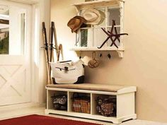 Entryway Bench with Storage Plans