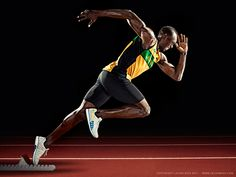 London 2012. Usain Bolt by Levon Biss for the Sunday Times Magazine