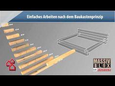 ▶ BAUHAUS TV - Produktvideo: Massiv-Blox - YouTube: Bett und Beistelltisch für Nico