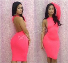 NEWEST SEXY PARTY WEAR ONE SHOULDER BACKLESS COCKTAIL BODYCON DRESS SIZE S M L