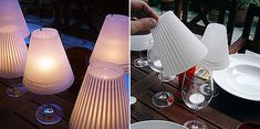 Cool, easy and cheap - turn classes into lamps with homemade lamp shades