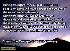 One of the rarest meteor showers is coming…
