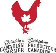 """Is your chicken """"Raised by a Canadian Farmer""""? New logo will let you know! #RaisedByACDNFarmer #ChickenDotCa"""