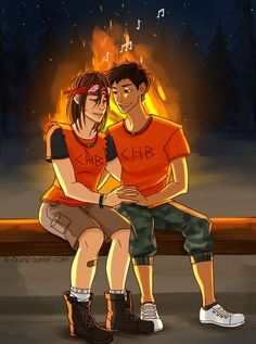 Clarisse and Chris <<< When I first saw this I thought they were on fire. Guess I'm still not over Hunger Games.