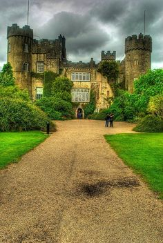 Malahide Castle, Ireland. Malahide is a lovely village to the north of the city, on rapid rail and bus links its a commuter haven. The demesn has this beautiful castle and when I was a child they had the best play ground ever!