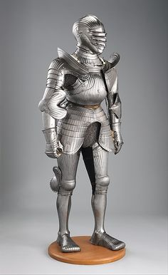 Armor Date: ca. 1520 and later Culture: German, Nuremberg Medium: Steel Dimensions: H. as mounted, 5 ft. 9 in. (175.26 cm); Wt. 57 lb. 10 oz. (26.15 kg)