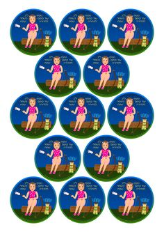 Free Cupcake Toppers or Sticker printables for Lag Baomer