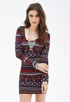 Tribal Print Bodycon Dress - Dresses - 2000100308 - Forever 21 UK £12