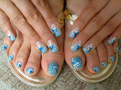 blue art nails by miyoko77us, via Flickr