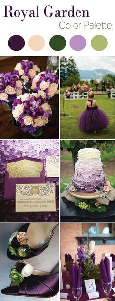 Royal Garden Wedding Color Palette | LinenTablecloth Blog