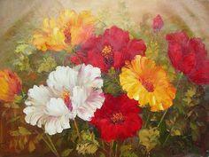 floral painting ideas | Blumengemälde