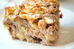 Appeltaart baked oats Oatmeal Recipes, Snack Recipes, Dessert Recipes, Desserts, Healthy Cookies, Healthy Sweets, Healthy Snacks, Healthy Recipes, I Love Food