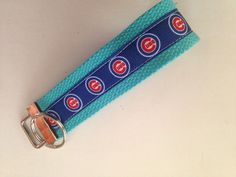 Chicago Cubs Baseball Team Sports Cubbies Key Holder Key Fob with Keychain Ring Wristlet ribbon cotton or nylon webbing choice of colors by MamaSellsStuff on Etsy