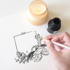 Emiko Woods Ink Painting  #ink #inkpainting #floral #floralillustration #flowers #stationary #wedding #handpainted #inspiration #design