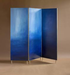 Hand painted cloth in a full brass frame. It is a delicate solution to divide the space. Each screen is different and unusual because of the painting created by the artist Ewelina Makosa. The screens are available in three different colors. Different Colors, Architecture Design, Divider, Delicate, Hand Painted, Sculpture, Interior Design, Frame, Furniture