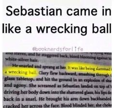 SEBASTIAN CAME IT IN LIKE A WRECKING BALL!!! He never meant to start a war... Oh wait he did<<<<< repinning for that comment
