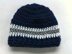 Dallas Cowboys  Inspired  Crochet Beanie  Boys Hat  by 4PennyGirl, $15.00