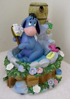 Disney Winnie the Pooh EEYORE Music Box with Water Fountain