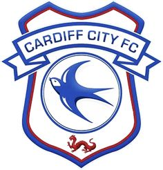 Cardiff City FC logo), The Championship, Cardiff, País de Gales. Cardiff City Fc, Cardiff City Football, British Football, English Football League, Manchester City, Manchester United, Fifa, City Logo, England