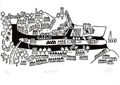 Lino Print - Bristol