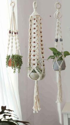 Rope Plant Hanger, Macrame Plant Holder, Macrame Plant Hangers, Plant Holders, Hanging Wall Planters Indoor, Ceiling Hangers, Plant Basket, Macrame Projects, Weaving