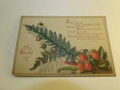 Victorian Trade Card Christmas Wishes Holiday Poem Wild Strawberries Fern FOR SALE • £7.89 • See Photos! Money Back Guarantee. Up for auction is a 19th century, Victorian Trade Card in decent condition. I have other Victorian Cards up now as well. Please see the images of the actual item 111978358924